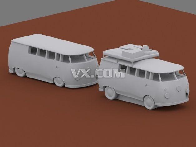 小巴车模型3d打印