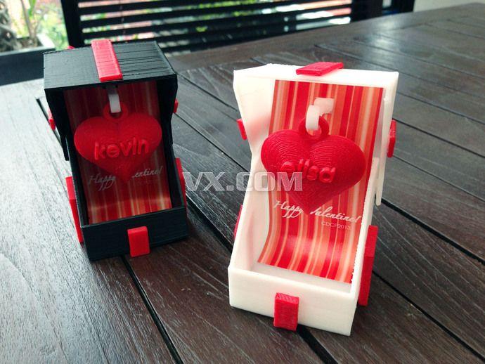 情人节礼物盒子3d打印