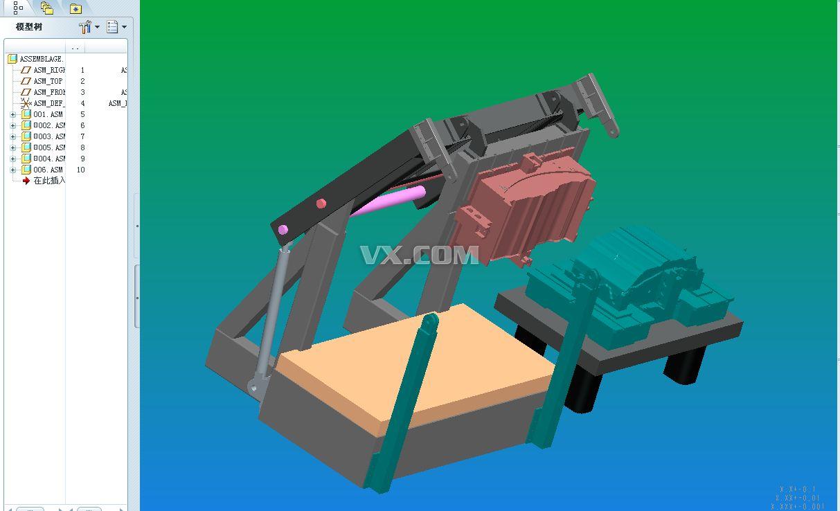 液压模架_pro/e_机械设备_3d模型_图纸下载_微小网
