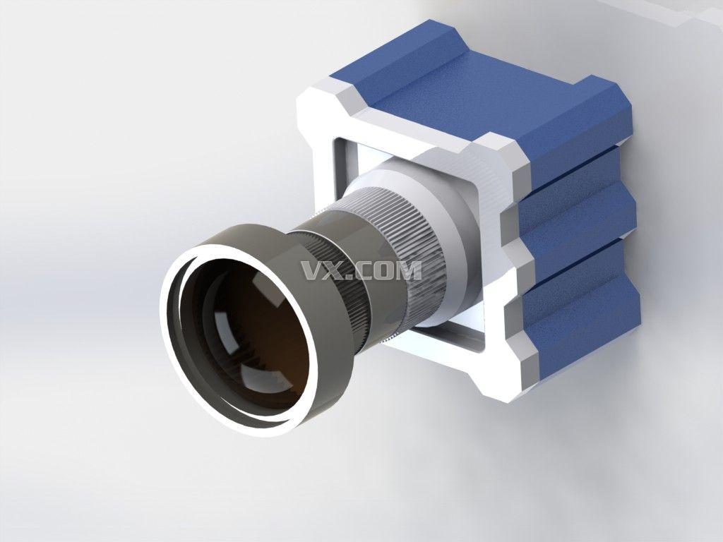相机机身_solidworks_机械设备_3d模型_图纸下载_微小