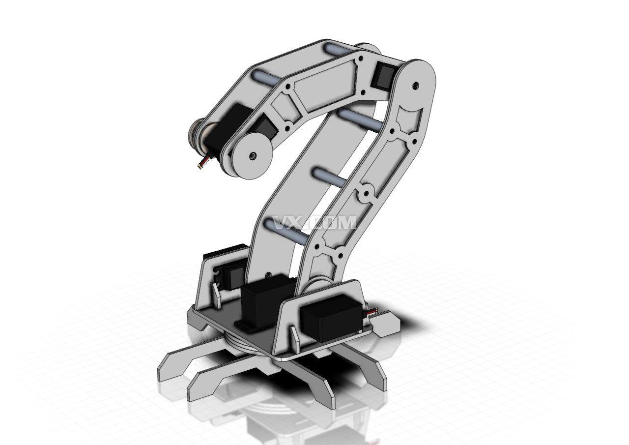 机器人手臂_solidworks_机械设备_3d模型_图纸下载