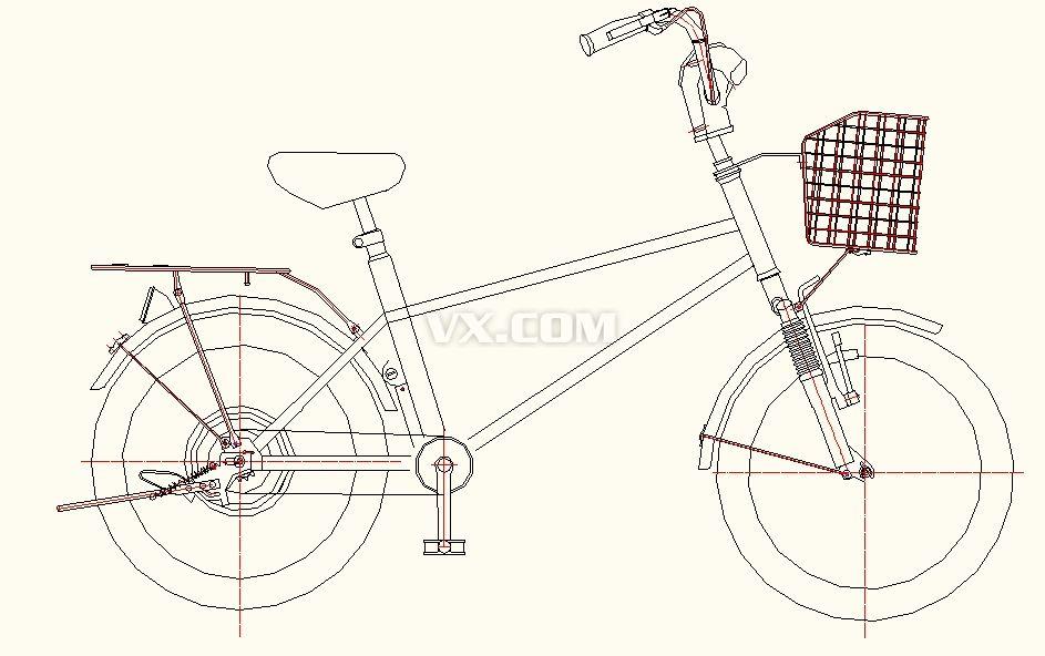 自行车机构 装配cad全套图纸