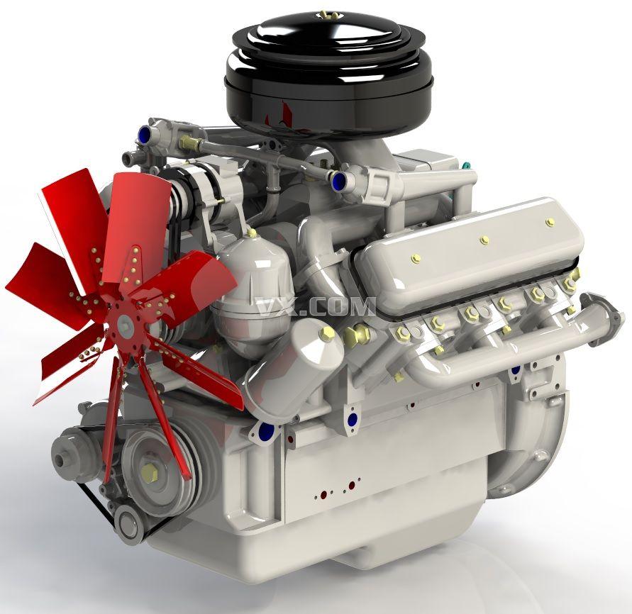柴油发动机_stl_交通工具