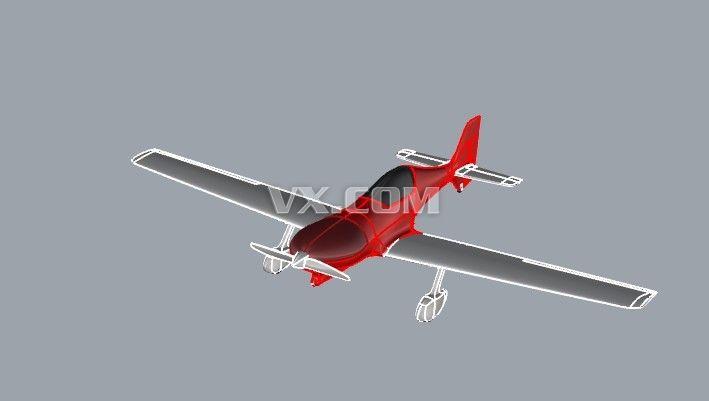 螺旋桨飞机_solidworks