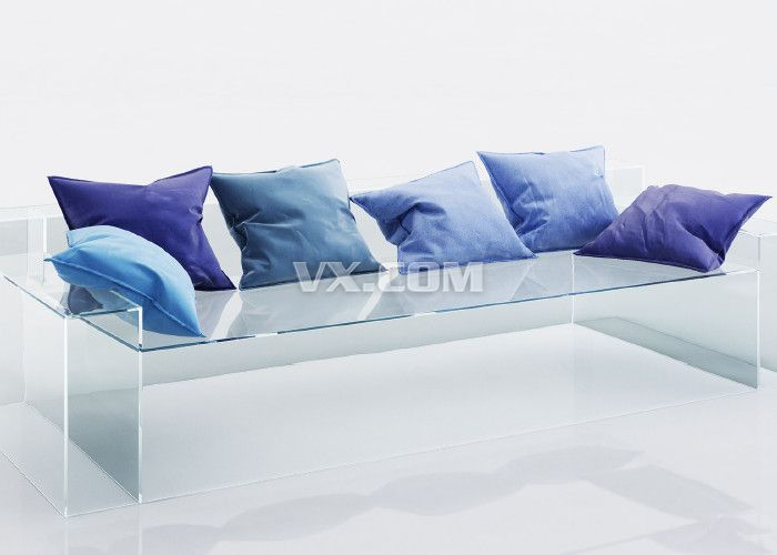 天蓝色沙发靠垫_3dsmax_家具_3d模型_图纸下载_微小网
