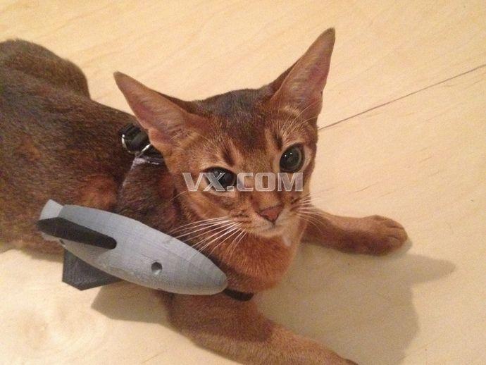 武装小猫3d打印_stl_创意设计_3d模型_图纸下载_微小网