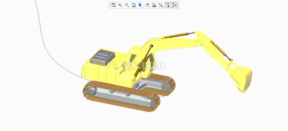 proe挖掘机造型_pro/e_交通工具_3d模型_图纸下载
