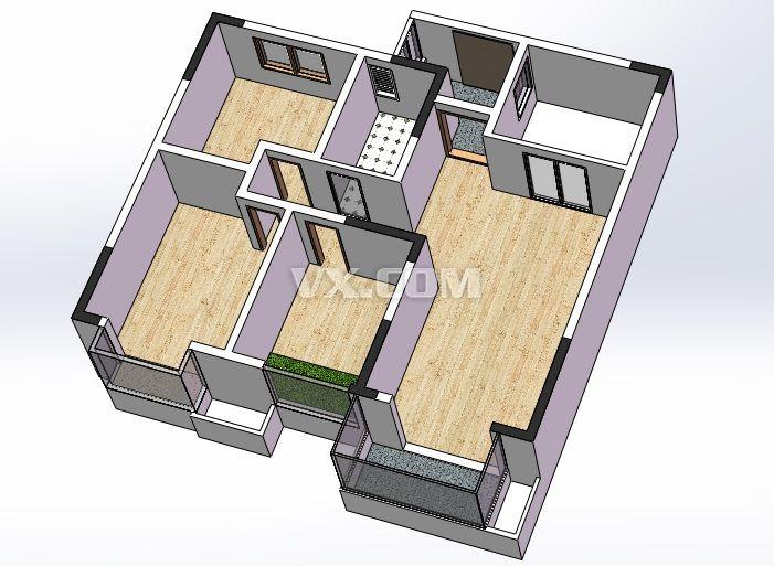 房屋结构图_solidworks