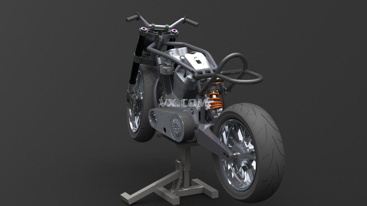 摩托车_step/stp_交通工具