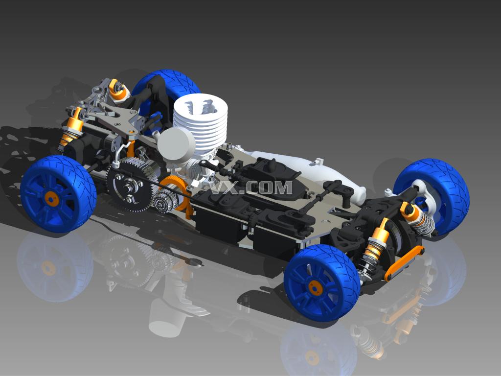 燃油模型汽车_inventor
