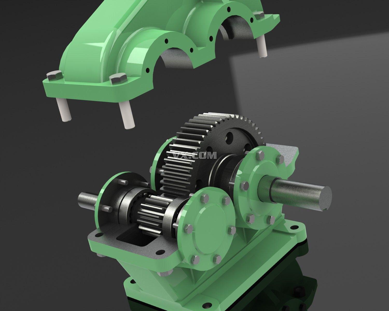 一级减速器_pro/e_机械设备