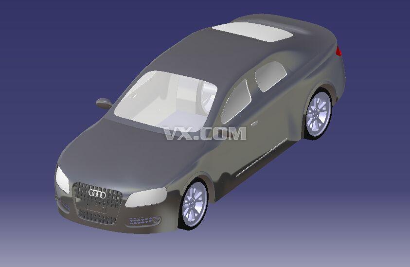 奥迪a5_catia_交通工具_3d模型_图纸下载_微小网
