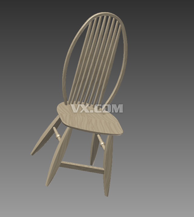 古典木椅子_inventor_家具