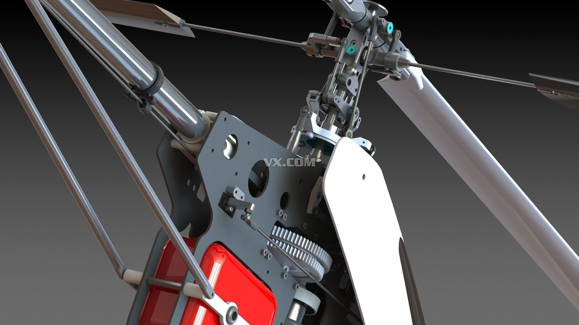 遥控飞机模型_solidworks