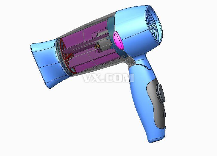 电吹风_pro/e_家用电器