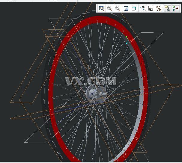 自行车车轮_creo parametric