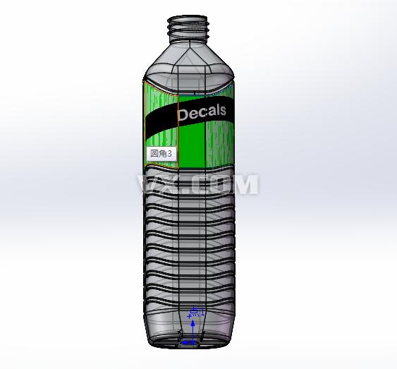 矿泉水瓶_solidworks_包装_3d模型_图纸下载_微小网图片