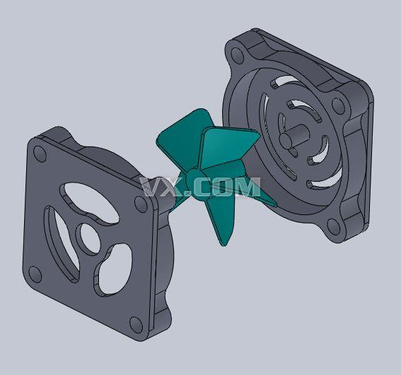 cpu风扇_solidworks_机械设备_3d模型_图纸下载_微小网