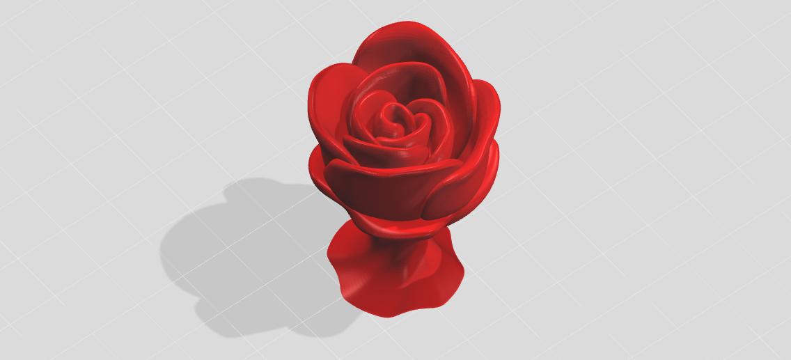 玫瑰花_stl_创意设计_3d模型
