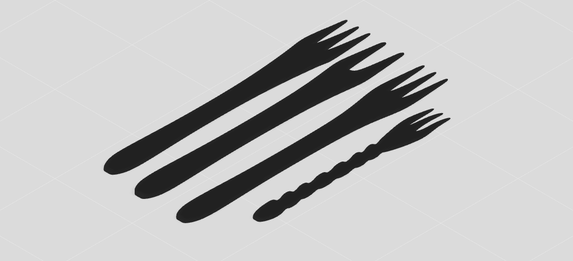 叉子动漫简笔画