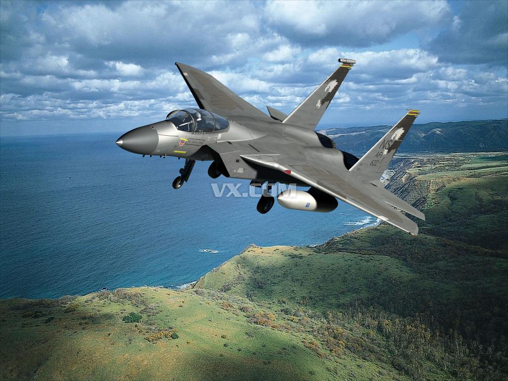 美国f15战机 autocad/zwcad+