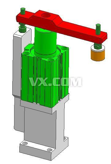 旋转夹紧气缸_x_t_机械设备_3d模型_图纸下载_微小网