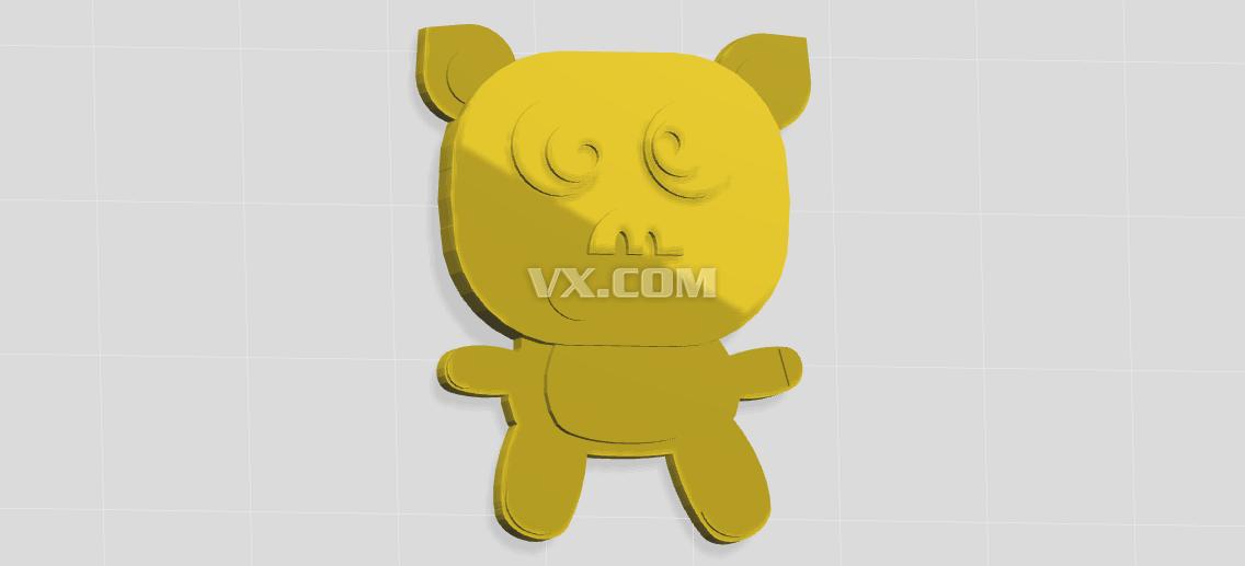 可爱小猪_stl_创意设计_3d模型_图纸下载_微小网