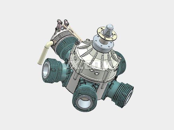 发动机引擎solidworks装配体图片
