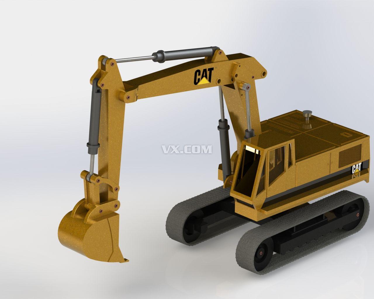 挖掘机_solidworks_机械设备_3d模型_图纸下载_微小网