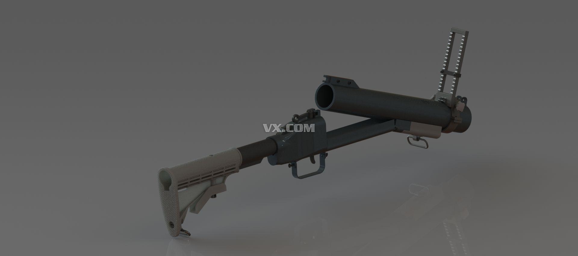m79榴弹发射器3d模型图纸