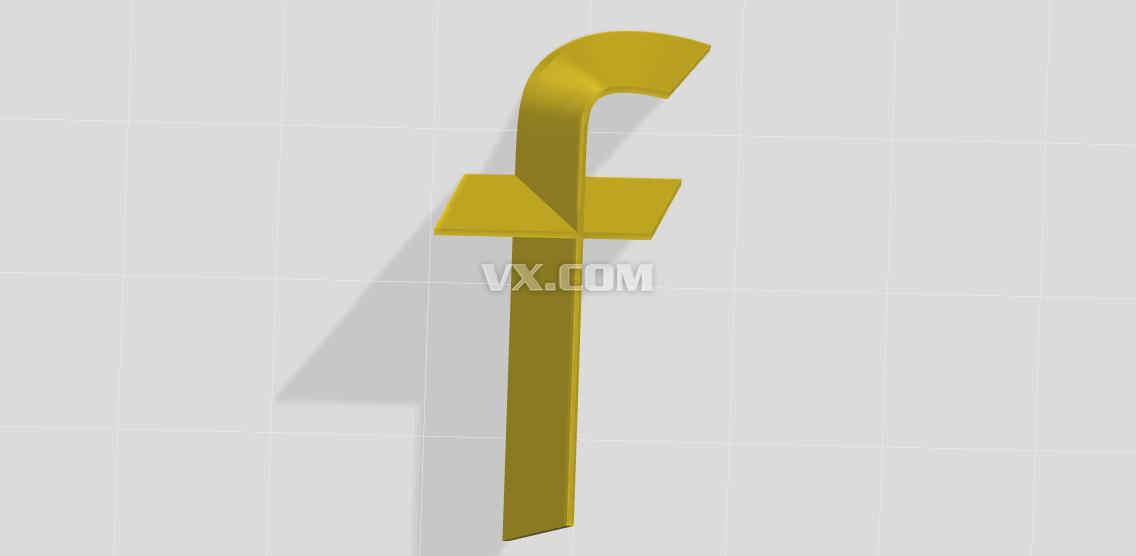 字母造型f_stl_创意设计_3d模型_图纸下载_微小网