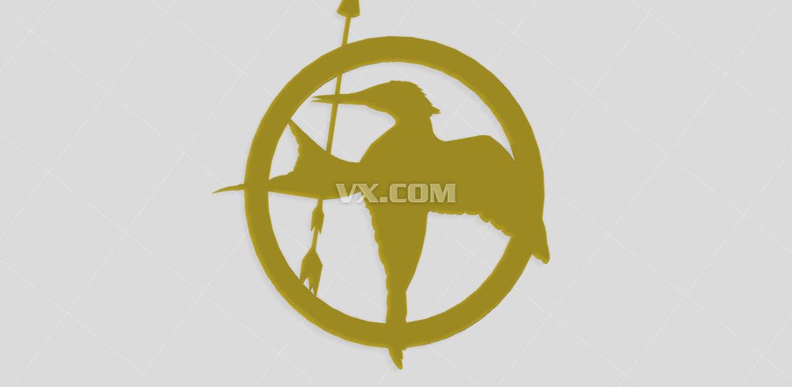 饥饿游戏logo_stl_创意设计