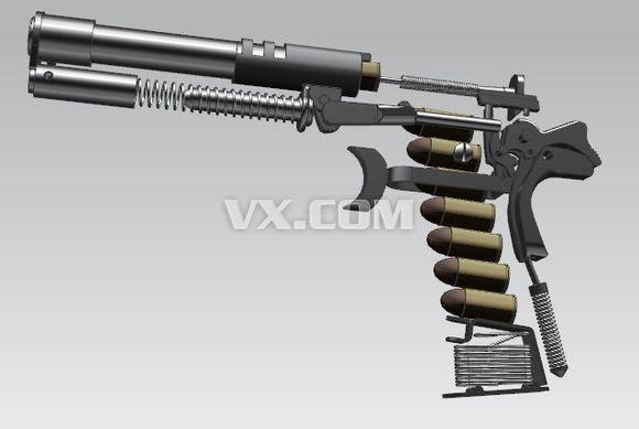 m1911汽枪手枪图纸下载