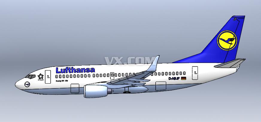 波音737-700飞机客机模型
