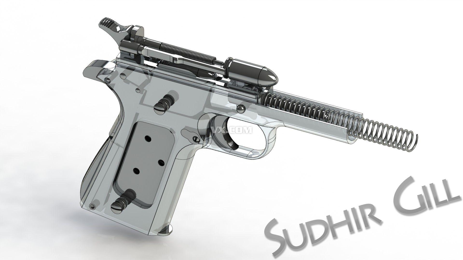 m1911的枪械设计图