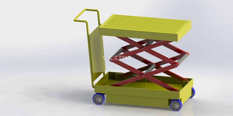 电动液压升降平台车_solidworks图片