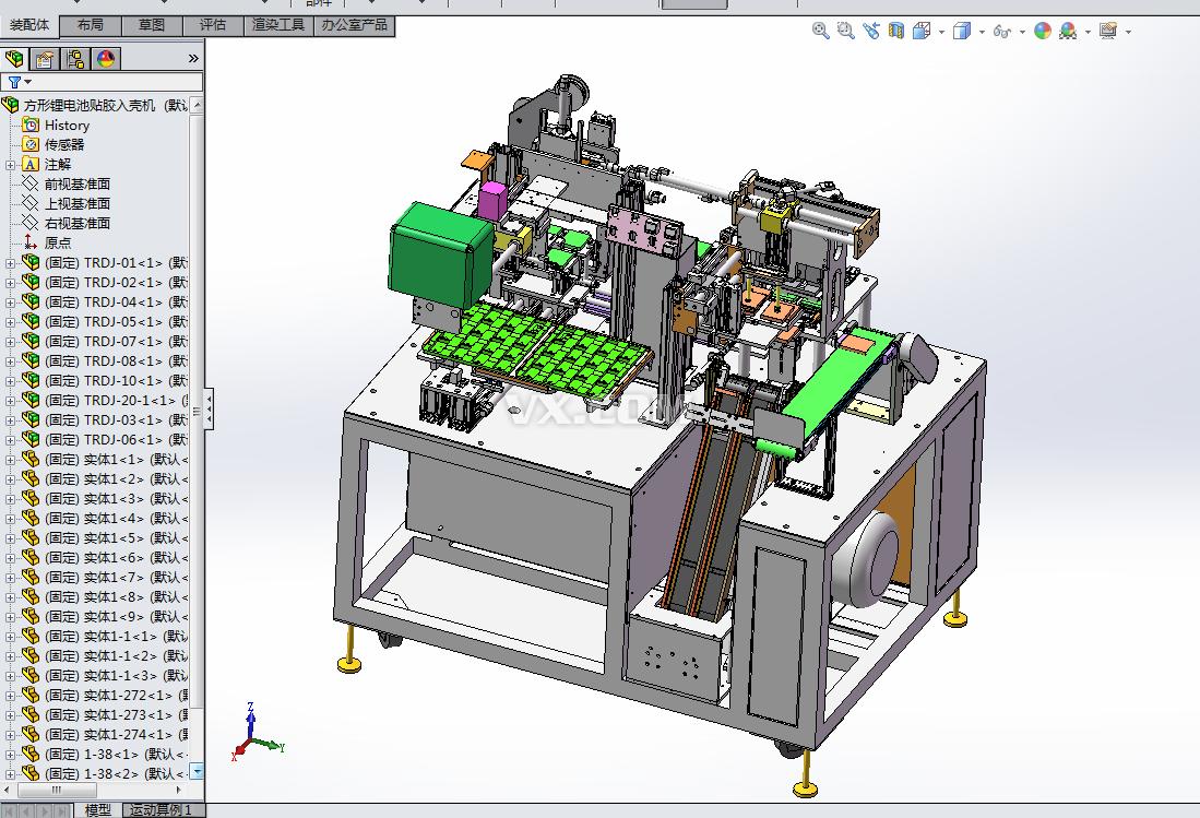 a24-方形锂电池贴胶入壳机xt图片