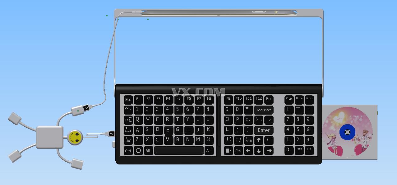新概念电脑一体化设计_inventor_数码电子_3d模型