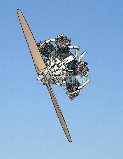 飞机的星形�yb�9�._飞机星形引擎