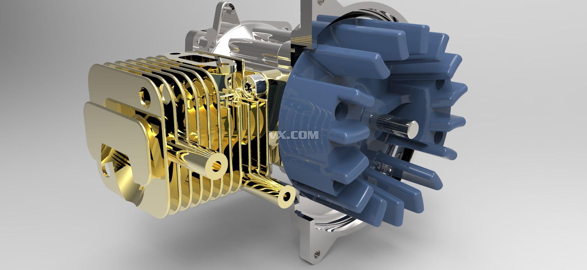 摩托车发动机结构图