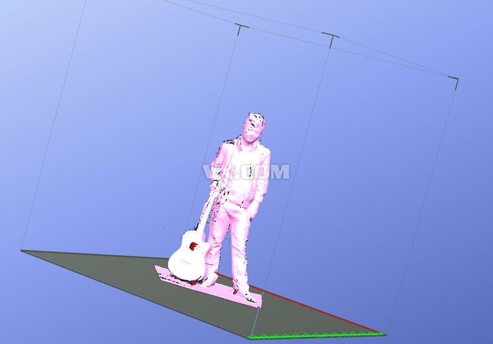 拿吉他的男人3d模型