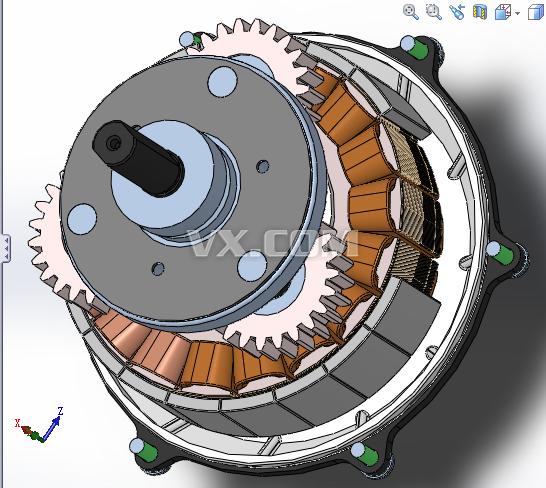 250w自行车行星齿轮发电机