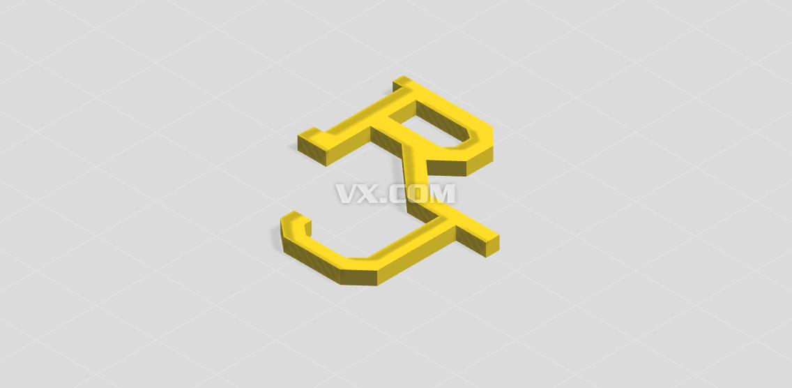 rj设计的logo_stl_创意设计_3d模型_图纸下载_微小网