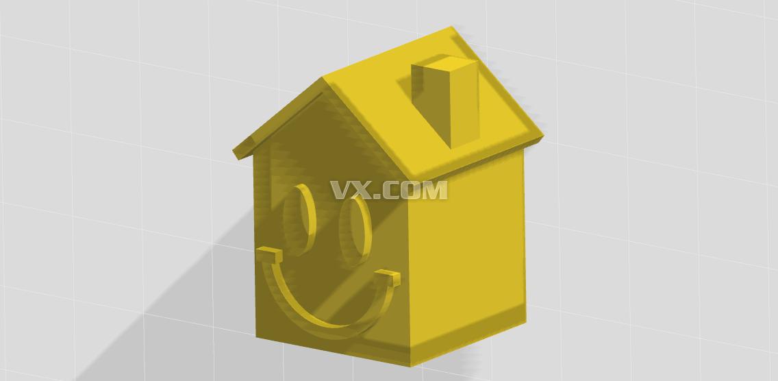 小房子_stl_创意设计_3d模型