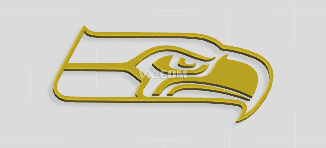 海鸥logo_stl_创意设计_3d模型_图纸下载_微小网