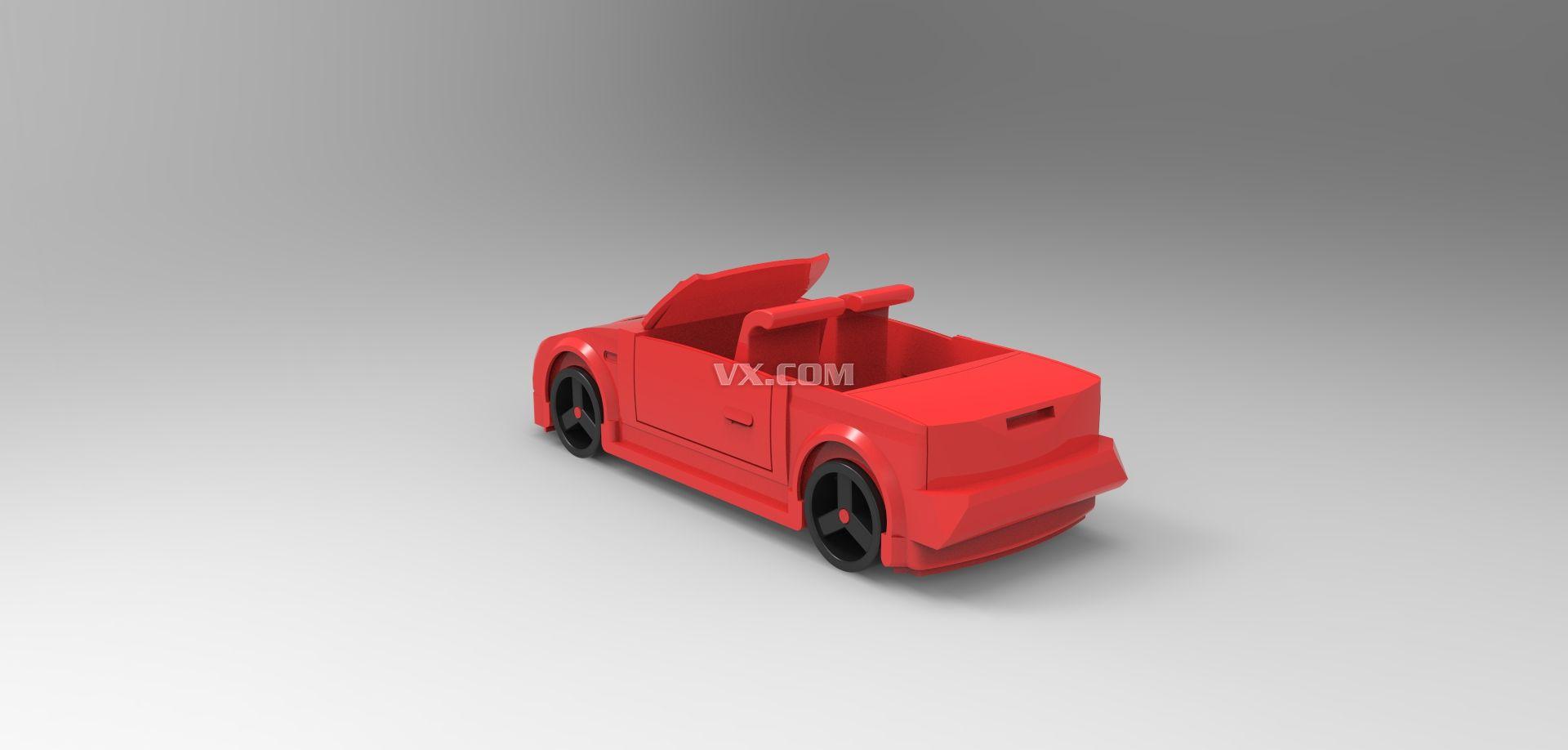 小汽车_中望3d_创意设计_3d模型_图纸下载_微小网
