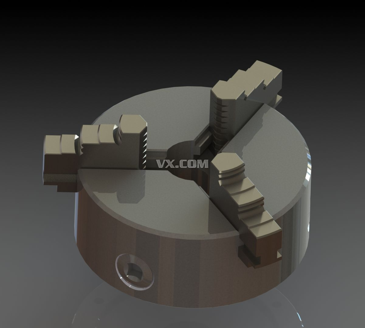 solidworks 三爪卡盘结构图_solidworks_机械设备_3d