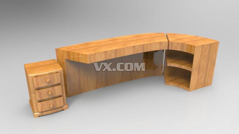 catia 一个办公室桌子