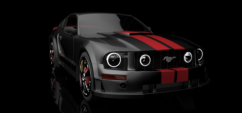 福特野马跑车3d模型