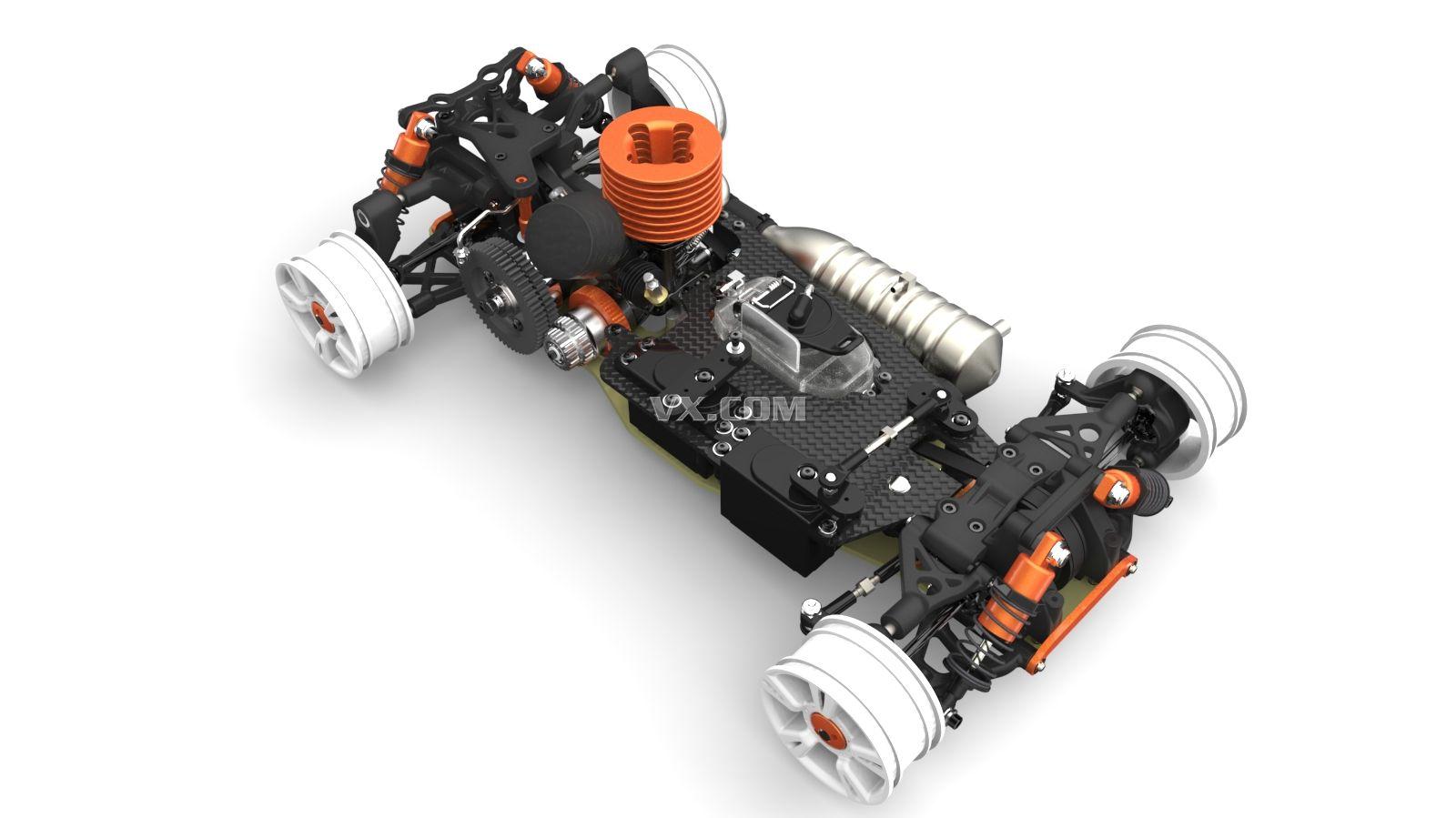 3dmax 赛车底盘结构设计图